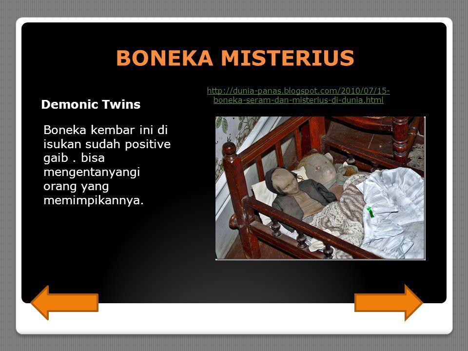 BONEKA MISTERIUS Demonic Twins