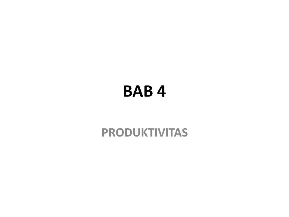 BAB 4 PRODUKTIVITAS