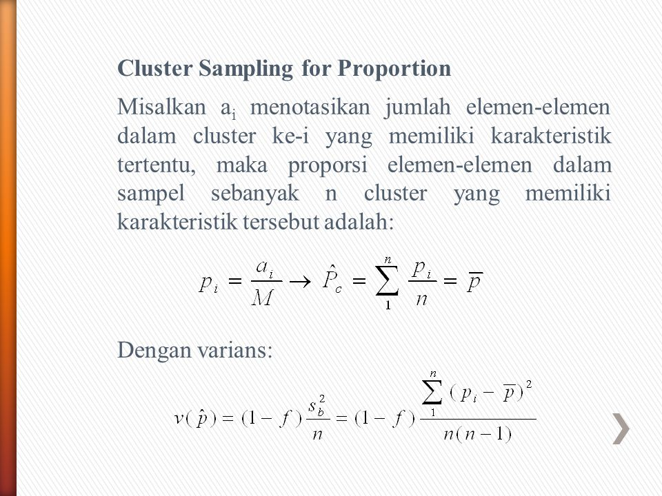 Cluster Sampling for Proportion