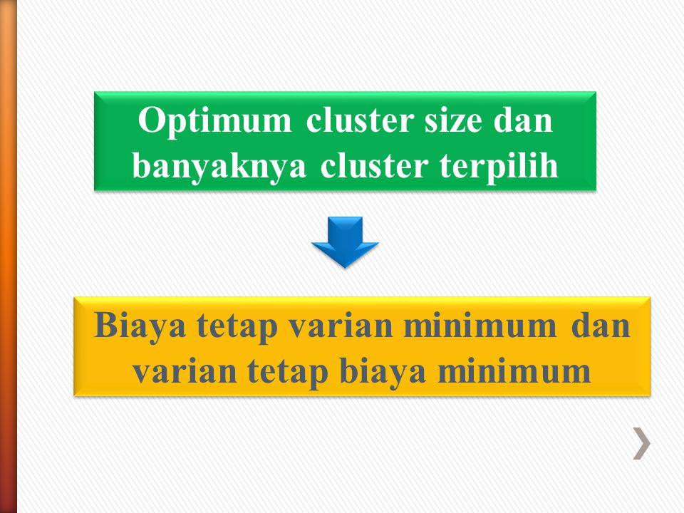 Optimum cluster size dan banyaknya cluster terpilih