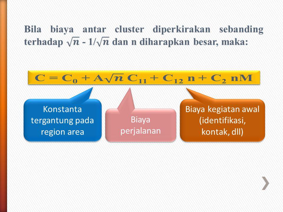 Konstanta tergantung pada region area
