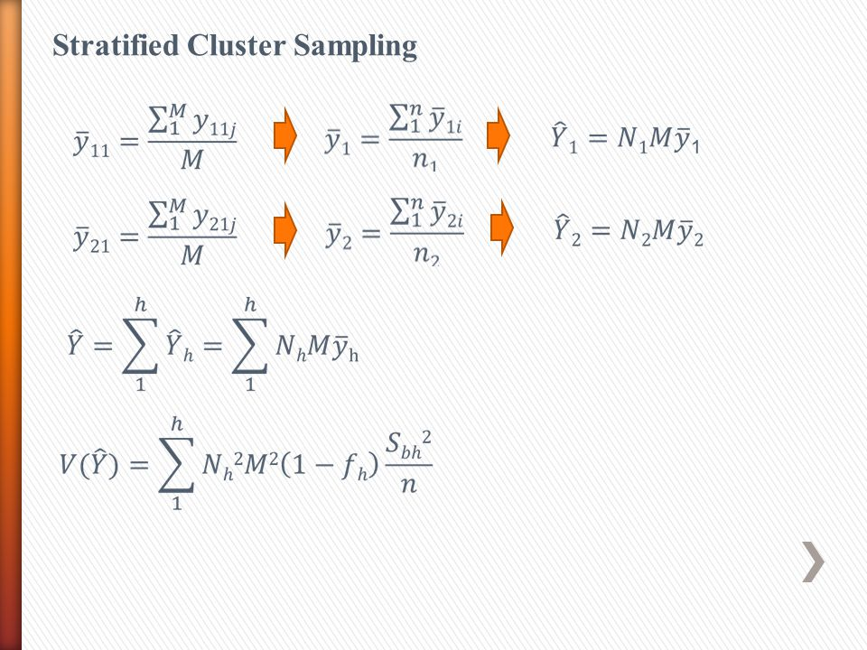 Stratified Cluster Sampling