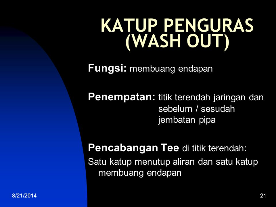 KATUP PENGURAS (WASH OUT)