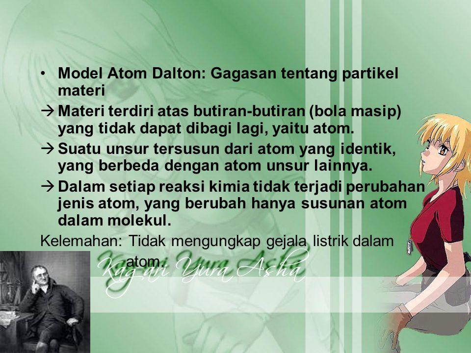 Model Atom Dalton: Gagasan tentang partikel materi