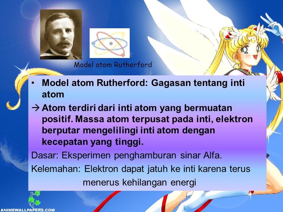 Model atom Rutherford: Gagasan tentang inti atom