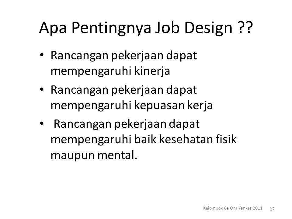 Apa Pentingnya Job Design