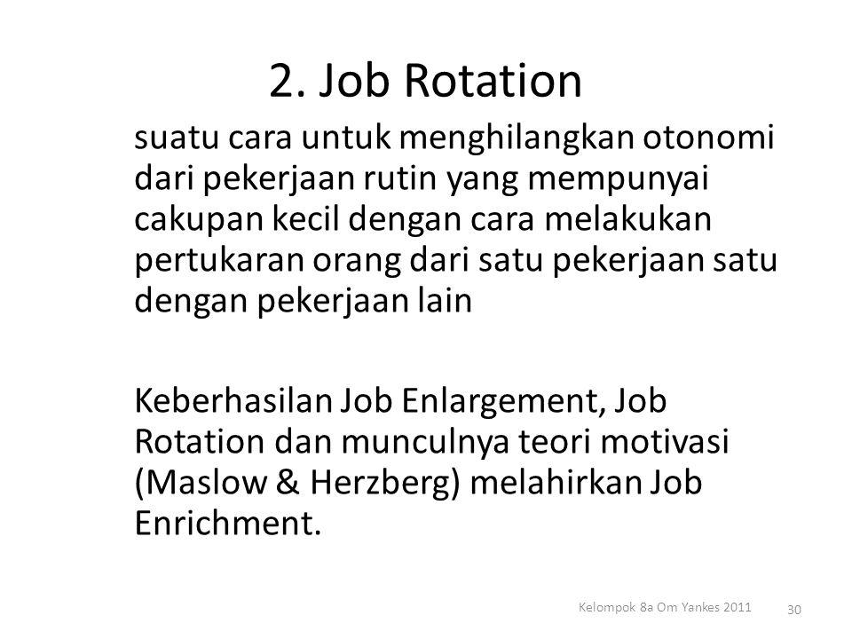 2. Job Rotation