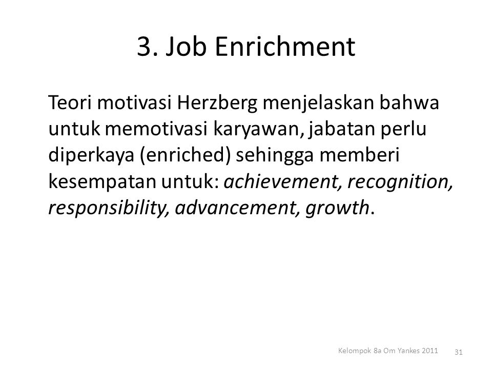 3. Job Enrichment