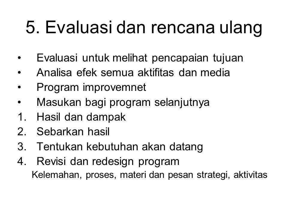 5. Evaluasi dan rencana ulang