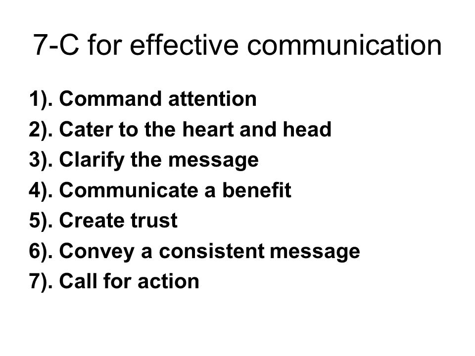 7-C for effective communication