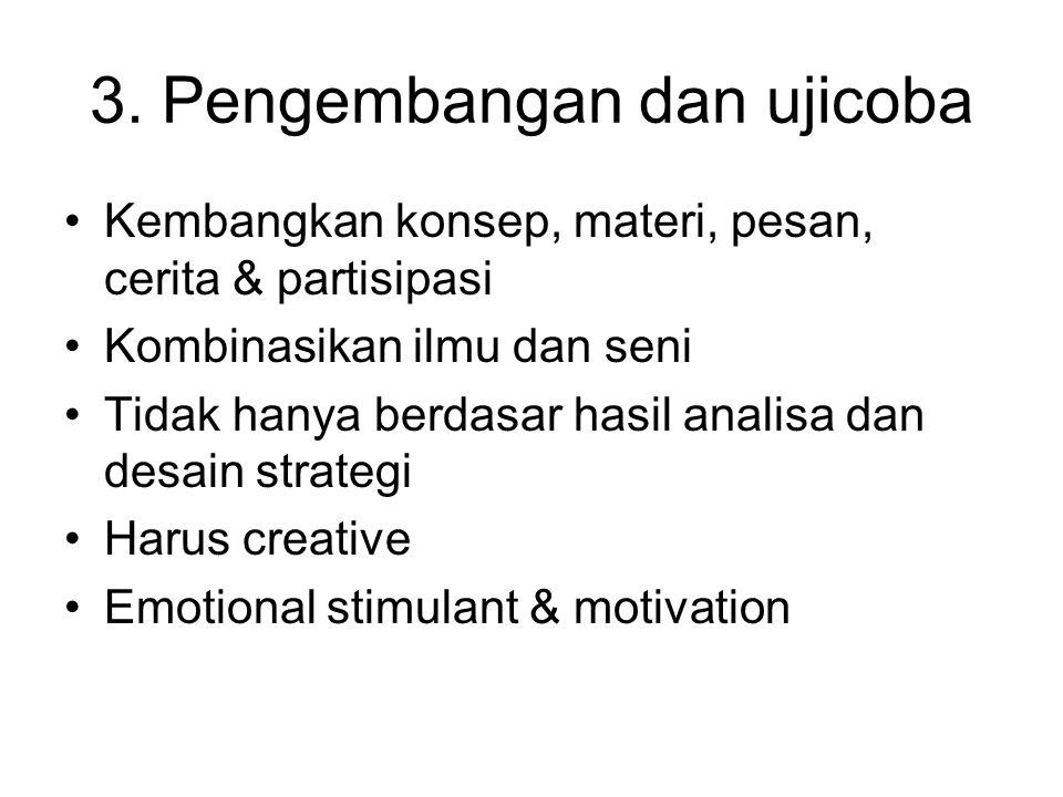 3. Pengembangan dan ujicoba