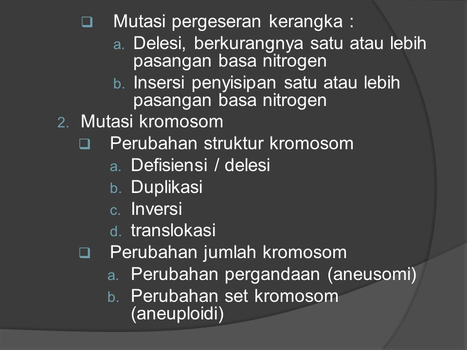 Mutasi pergeseran kerangka :