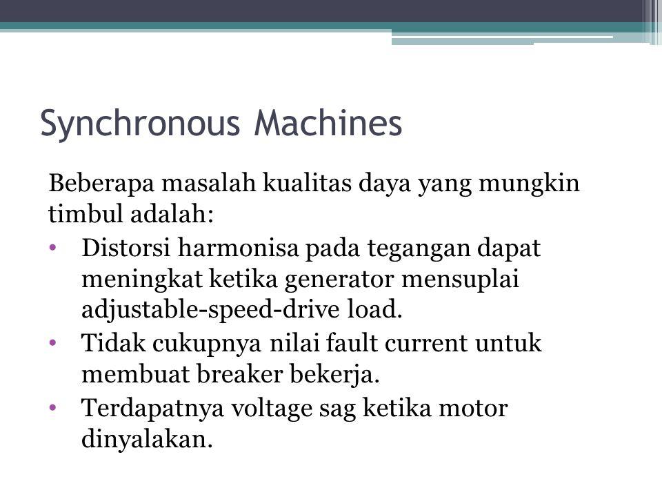 Synchronous Machines Beberapa masalah kualitas daya yang mungkin timbul adalah:
