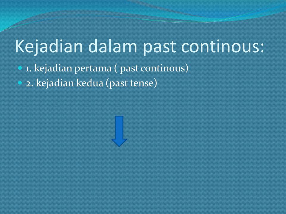 Kejadian dalam past continous: