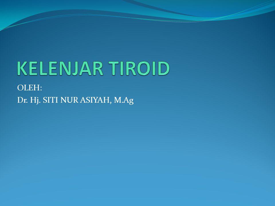 KELENJAR TIROID OLEH: Dr. Hj. SITI NUR ASIYAH, M.Ag