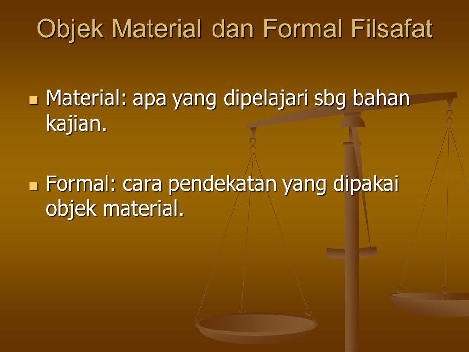 Objek Material dan Formal Filsafat