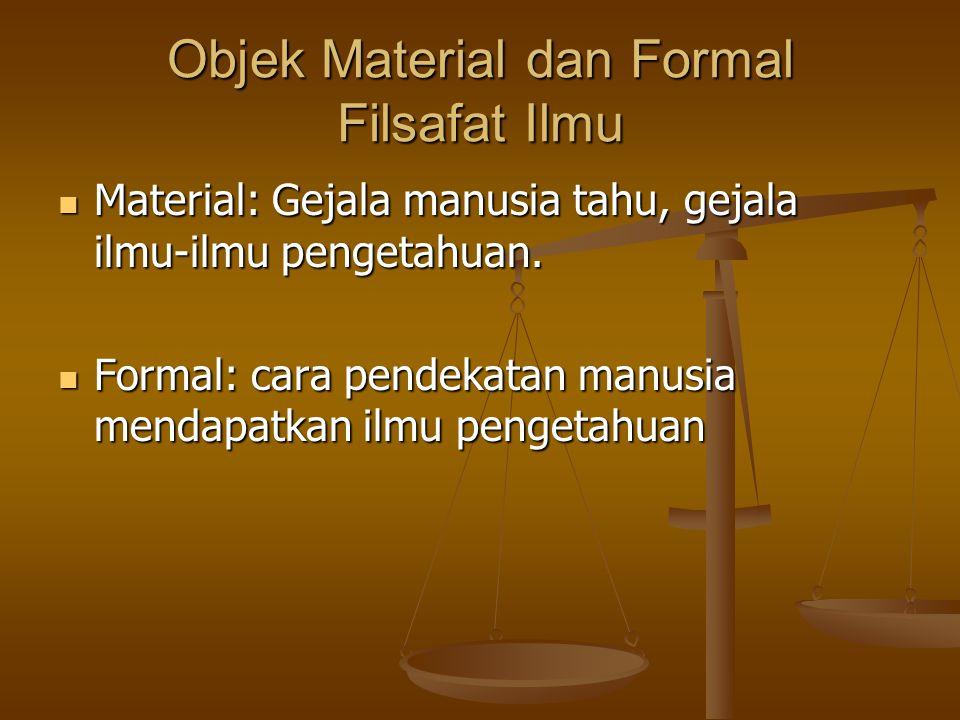 Objek Material dan Formal Filsafat Ilmu