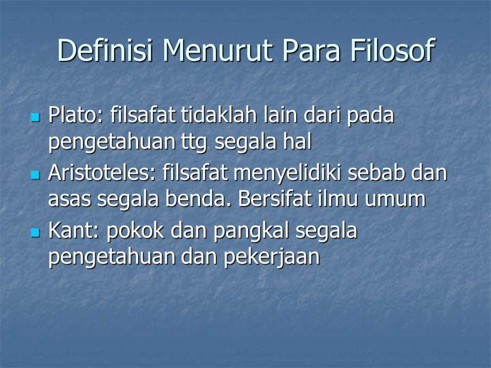 Definisi Menurut Para Filosof