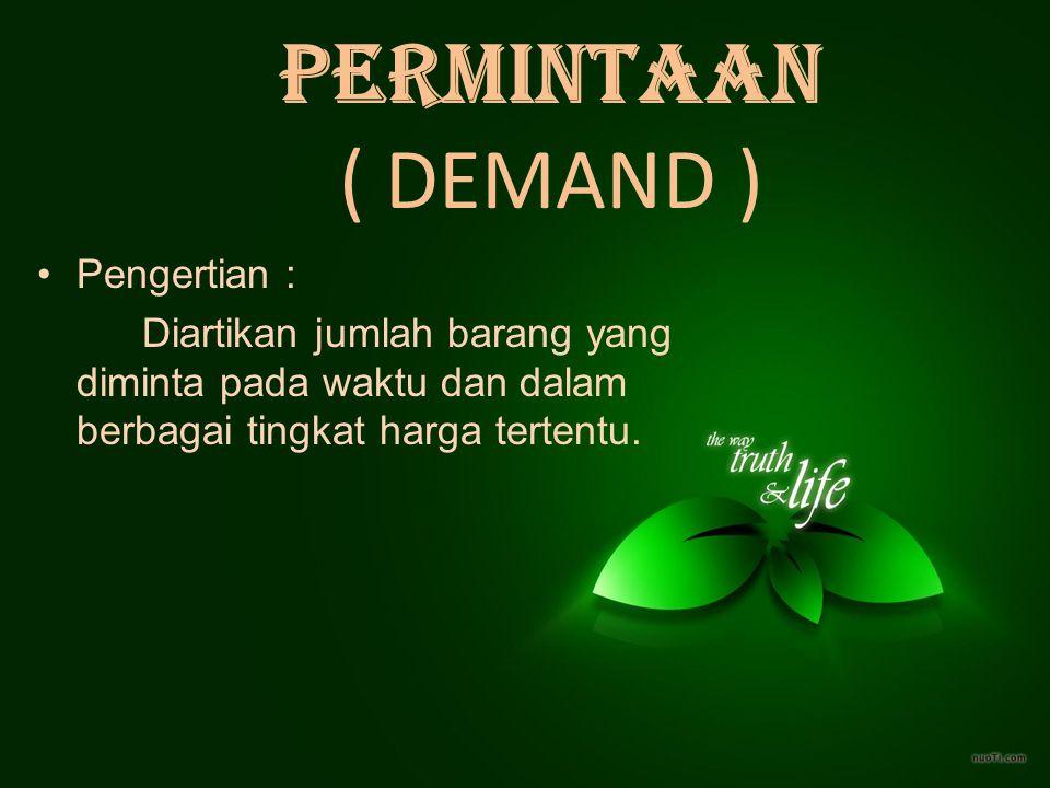 PERMINTAAN ( DEMAND ) Pengertian :