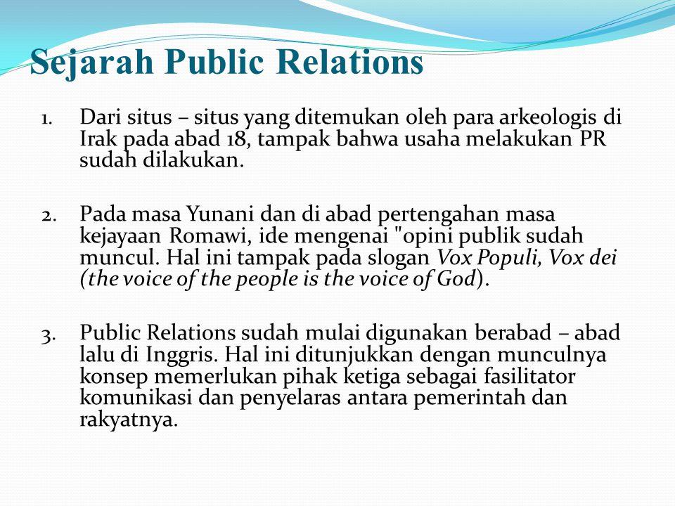 Sejarah Public Relations