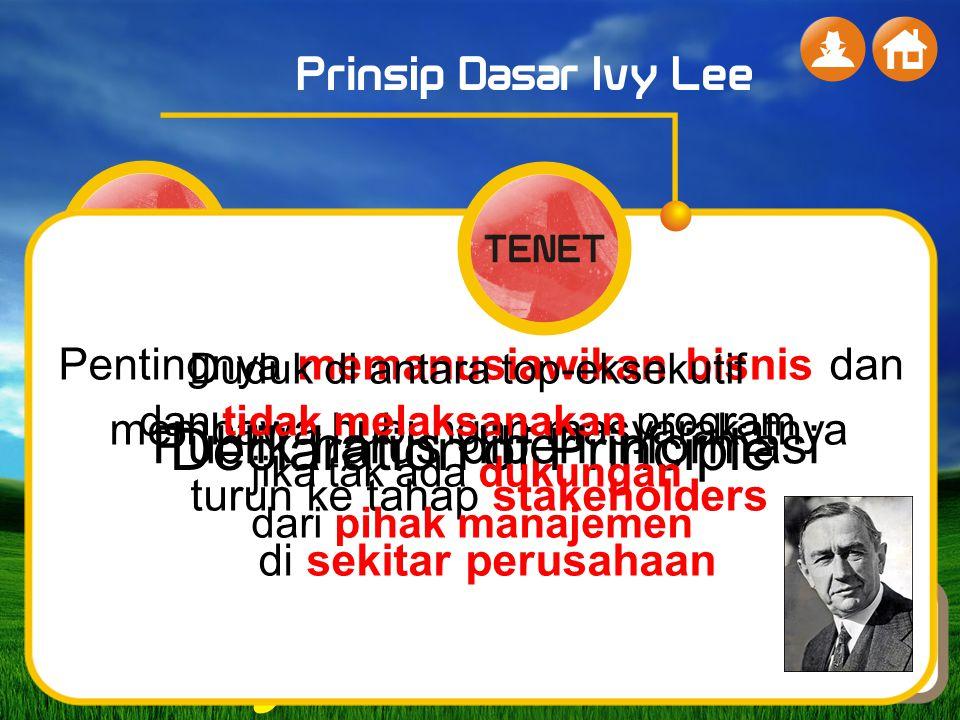 … Declaration of Principle Publik harus diberi informasi