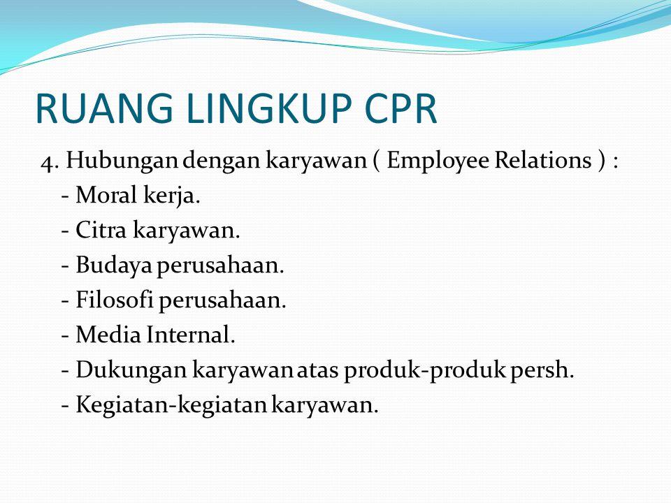 RUANG LINGKUP CPR