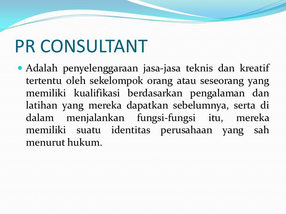 PR CONSULTANT