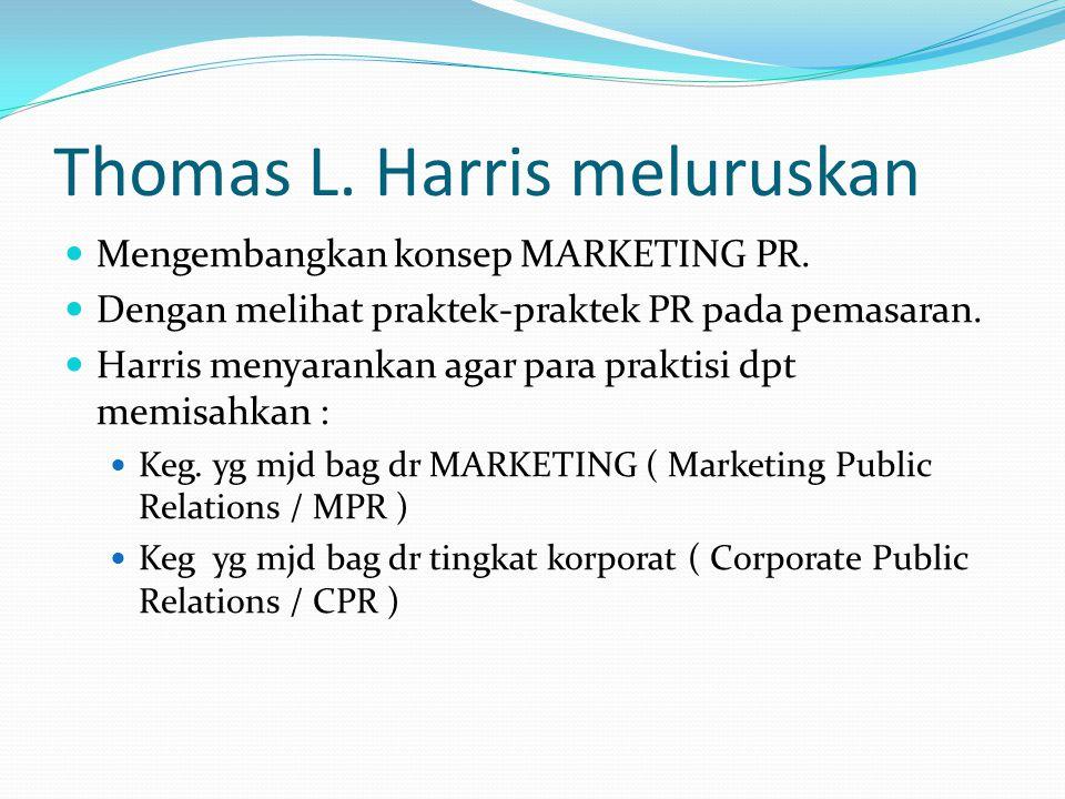 Thomas L. Harris meluruskan