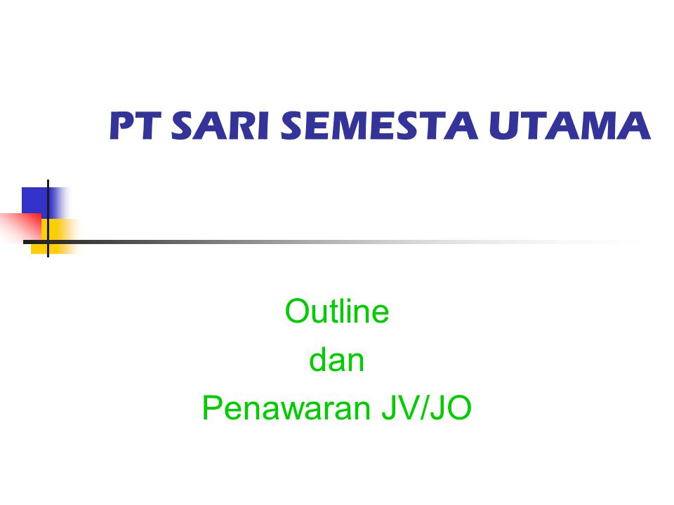 Outline dan Penawaran JV/JO