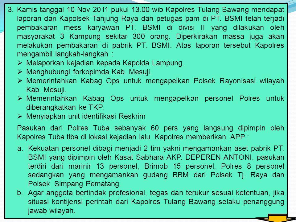 Kamis tanggal 10 Nov 2011 pukul 13