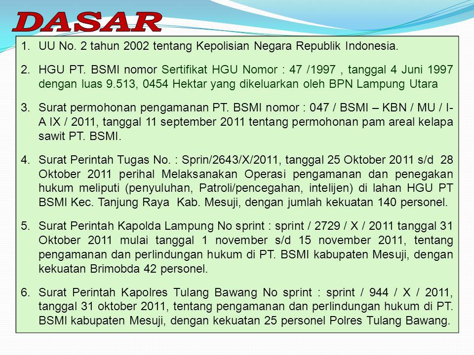 DASAR UU No. 2 tahun 2002 tentang Kepolisian Negara Republik Indonesia.