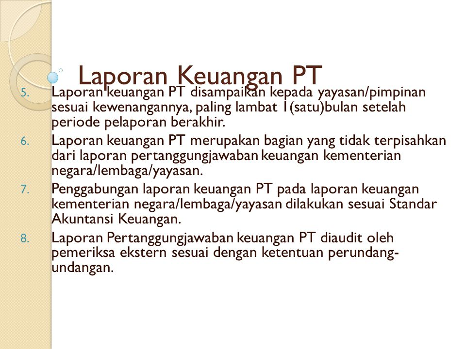 Laporan Keuangan PT