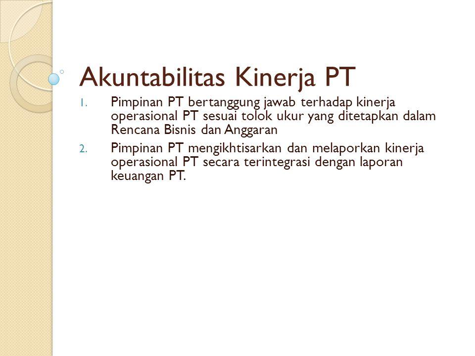 Akuntabilitas Kinerja PT