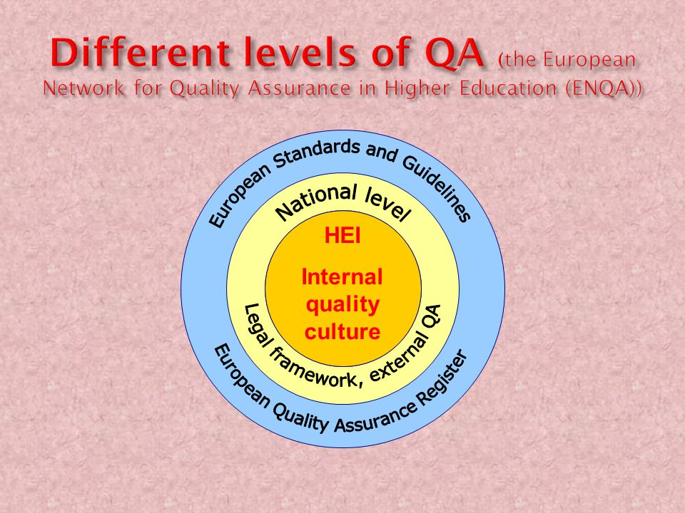 Internal quality culture