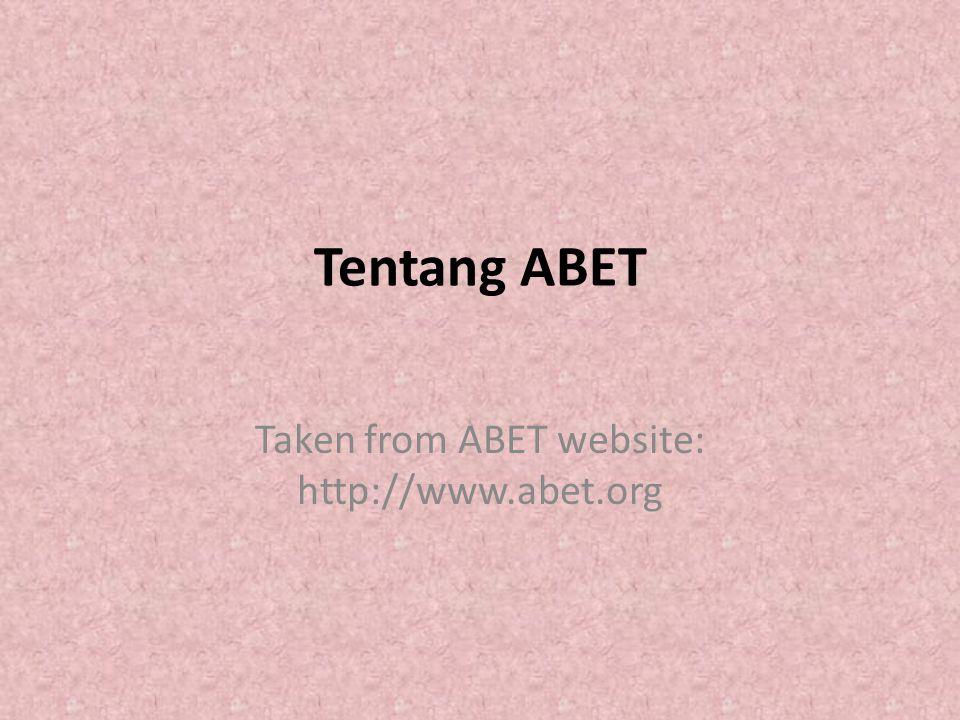 Taken from ABET website: http://www.abet.org
