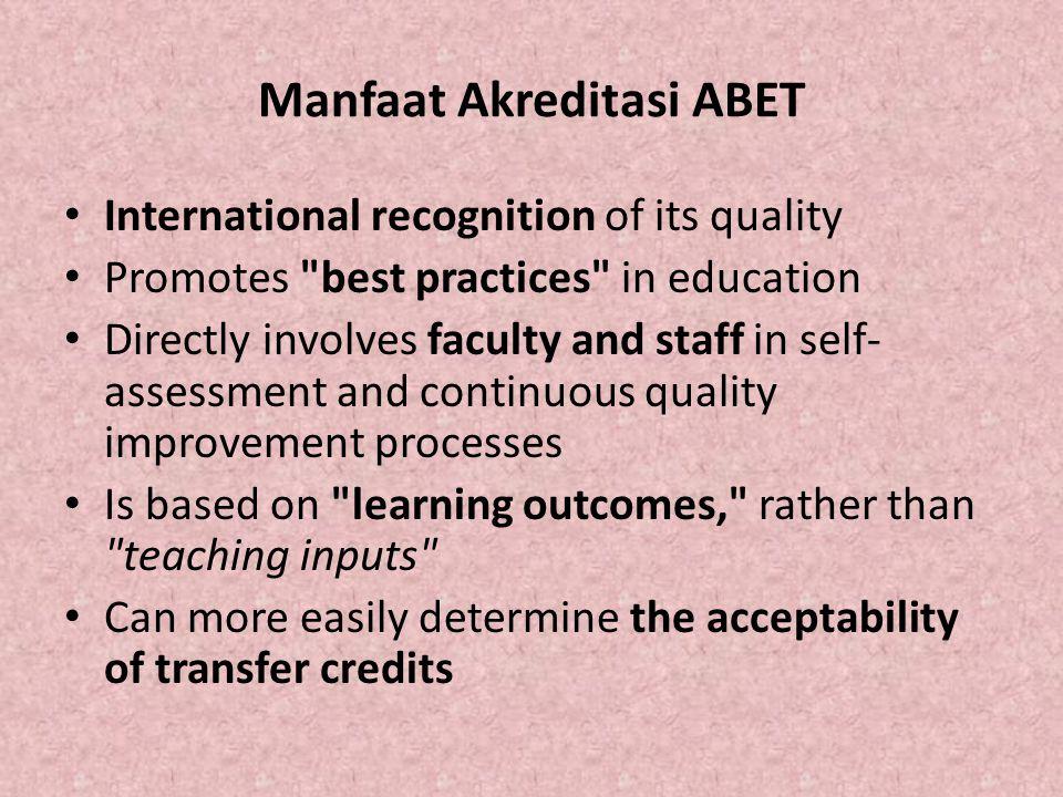 Manfaat Akreditasi ABET