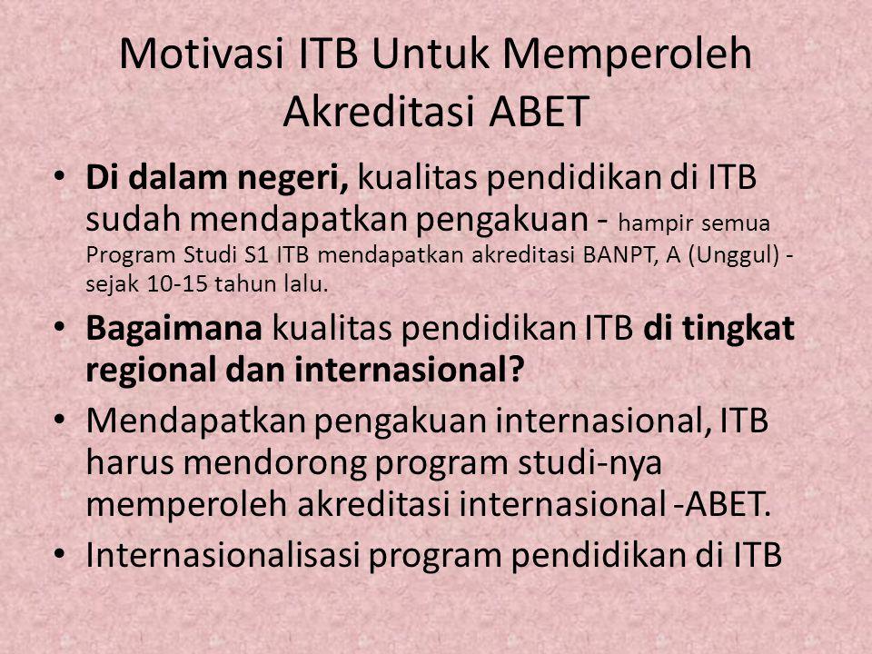 Motivasi ITB Untuk Memperoleh Akreditasi ABET