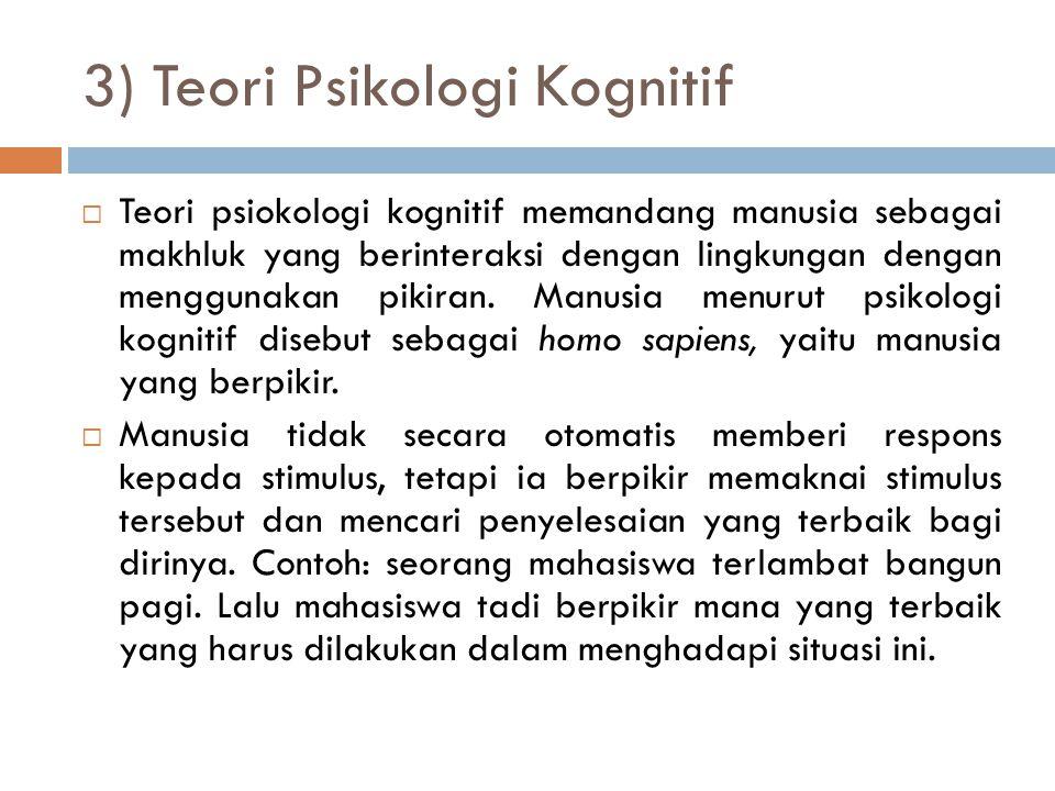 3) Teori Psikologi Kognitif