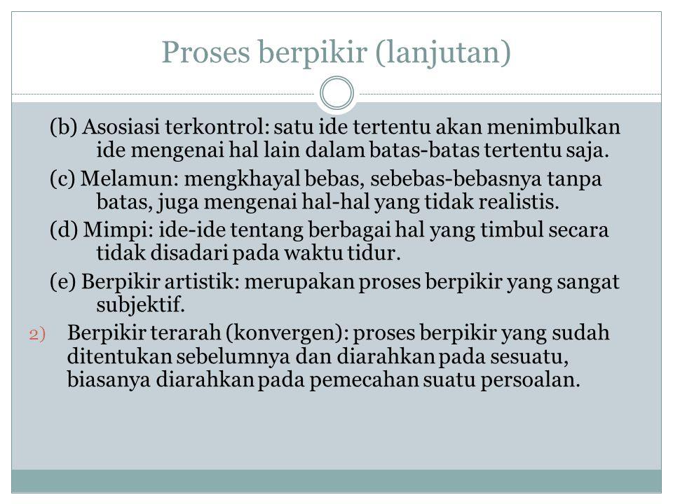 Proses berpikir (lanjutan)
