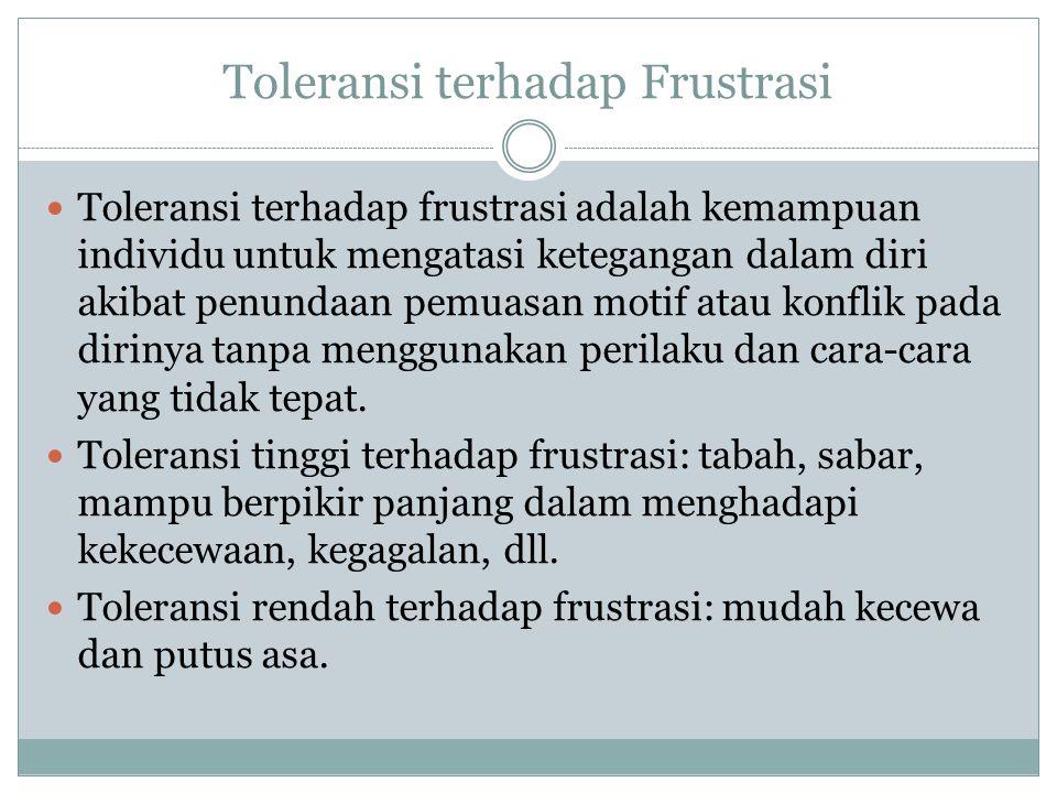 Toleransi terhadap Frustrasi