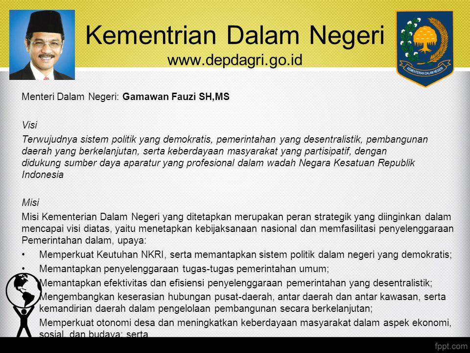 Kementrian Dalam Negeri www.depdagri.go.id