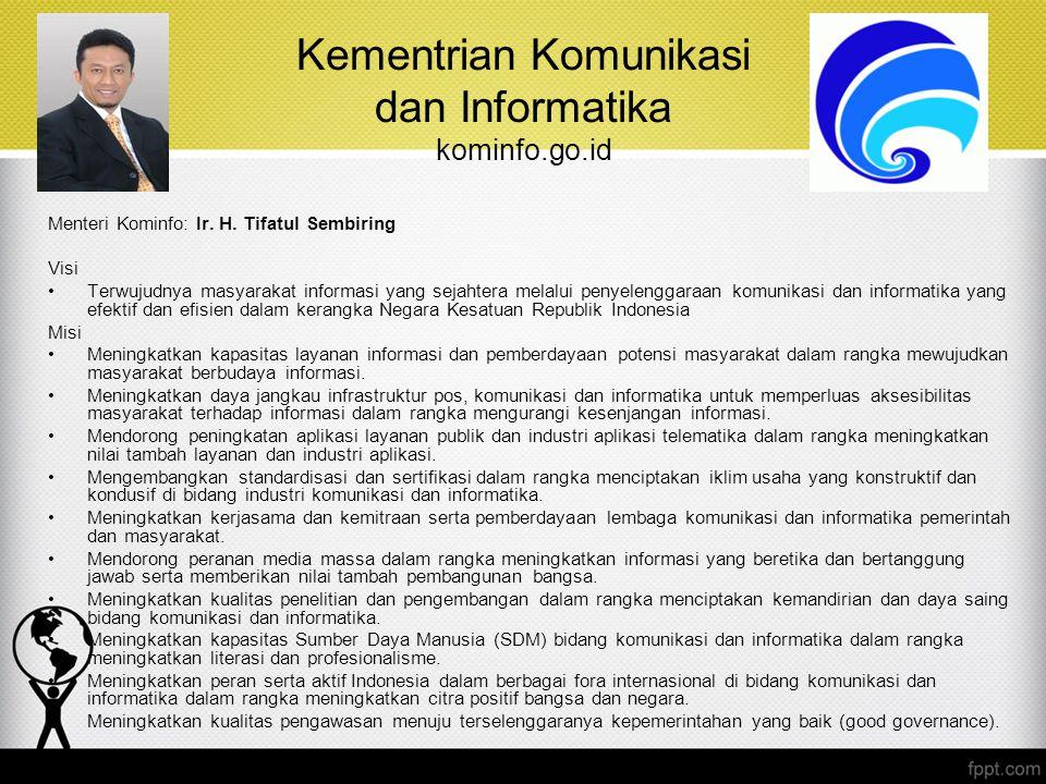 Kementrian Komunikasi dan Informatika kominfo.go.id