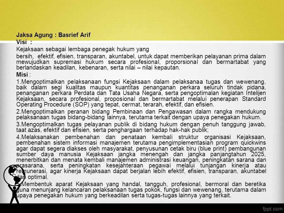 Jaksa Agung : Basrief Arif