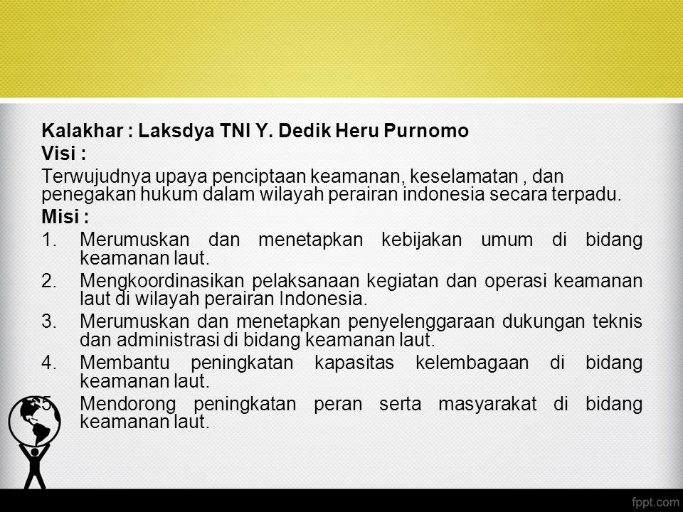 Kalakhar : Laksdya TNI Y. Dedik Heru Purnomo