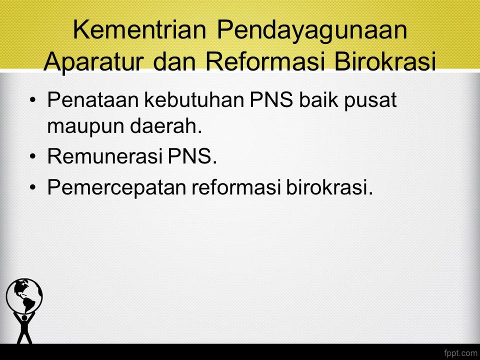 Kementrian Pendayagunaan Aparatur dan Reformasi Birokrasi