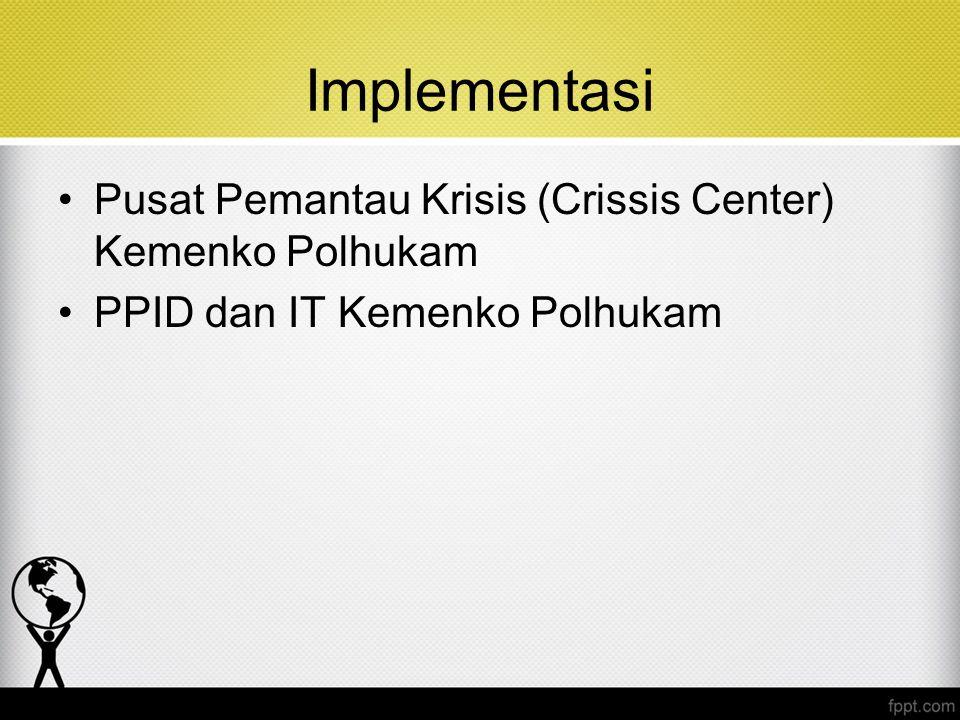 Implementasi Pusat Pemantau Krisis (Crissis Center) Kemenko Polhukam