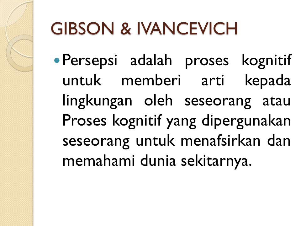 GIBSON & IVANCEVICH