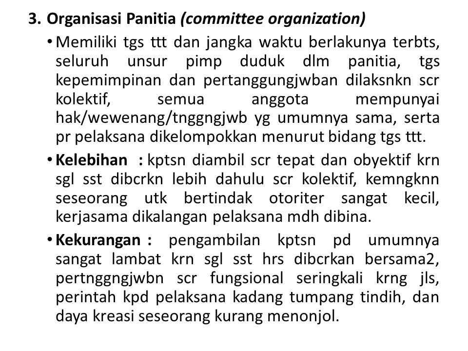 Organisasi Panitia (committee organization)