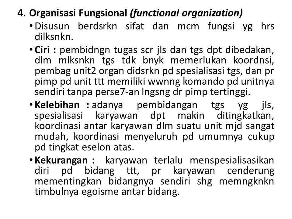 Organisasi Fungsional (functional organization)