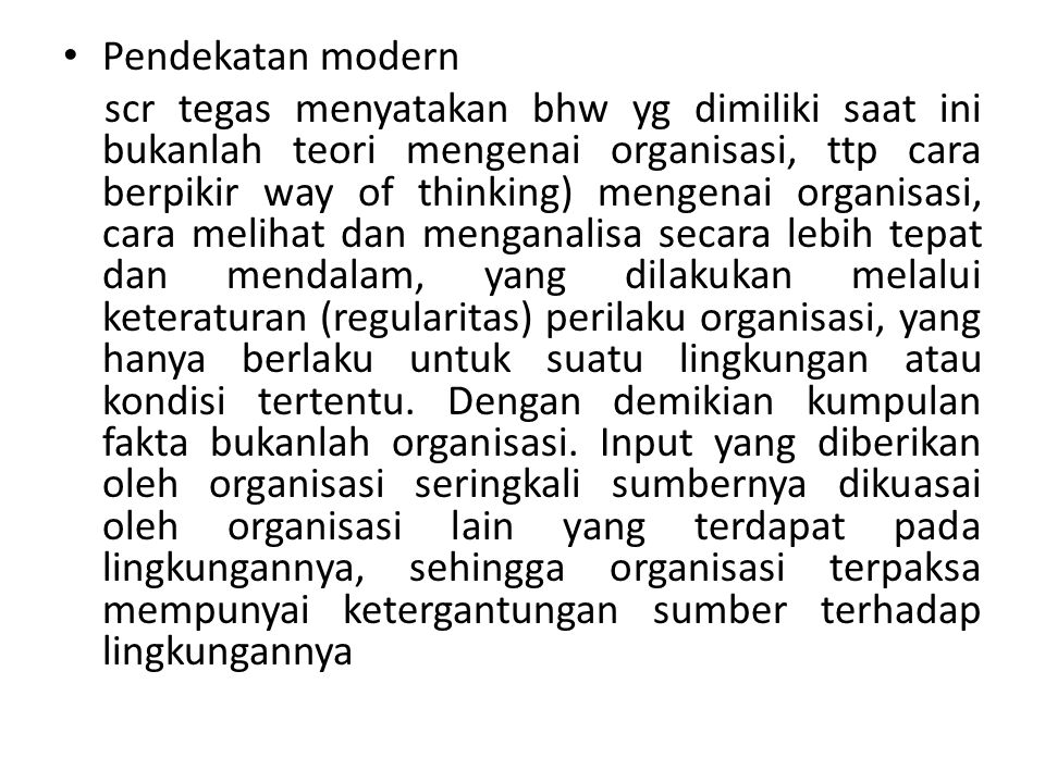 Pendekatan modern